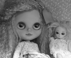Just Channing and the lil doll in B&W!