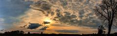 Brandenburger Sonnenuntergang (sunset in Brandenburg) (berlin-belichtet.de) Tags: sunset panorama cloud sun tree nature clouds germany landscape sonnenuntergang sundown natur wolke wolken olympus landschaft sunsetlight sonne brandenburg baum hdr panoramics sonnenlicht omdem10