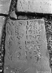 Initials (Richard Knaggs) Tags: death nikon gravestone hp5 fe rodinal ilford westyorkshire heptonstall