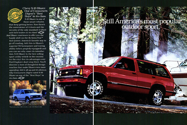 chevrolet gm offroad general utility retro motors chevy vehicle 1991 suv blazer nineties severe