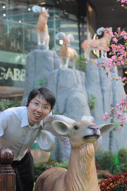 Royston and Year of  the Goat  @ Ion Orchard Singapore