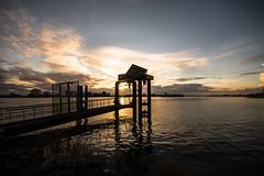 landing (bjdewagenaar) Tags: sunset sky water colors clouds contrast river landscape raw sundown angle sony wide sigma landing alpha 1020mm lightroom waterscape a58 10mm
