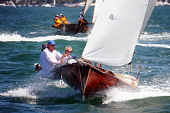 Historical Skiff 2015 Australian Titles Heat 3_09 (Bruce Kerridge) Tags: summer heritage water sport race fun foot boat interesting nikon sailing open yacht sydney australia explore nsw sail recreation woodenboat skiff sydneyharbour yachting brittania iansmith mosman australian aberdare 18footskiff too bob trust john 18 barnett d700 billy 18skiff 18footskiffs sydneyflyingsquadron yendys 18ftskiff winning harold skiff sails myra goldspar cudmore herrick killick