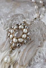 N-3673 (Kotomi_) Tags: vintage necklace costume handmade style jewelry medieval jewellery collection polymerclay historical period byzantine springsummer naturalstone semiprecious 2015  kotomi    kotomiyamamura kotomijewellery