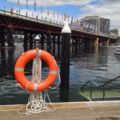 36/365 - Darling Harbour, Australia (Ann McLeod Images) Tags: travel bridge orange water harbour sydney australia wharf darlingharbour lifebuoy travelaustralia