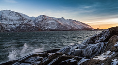 By the fjord (Per-Karlsson) Tags: mountains norway waves fjord sevensisters fjell helgeland sandnessjoen canonef24105mmf40lisusm canoneos6d norwegiancoast botnfjorden