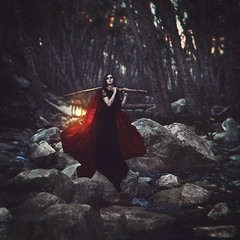 last lifting of the light (sparkbearer) Tags: light red nature creek river dark magic surreal float carry supernatural mtbaldy chelseaknight