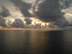 Sunset from Caribbean Princess at Sea (Curb Crusher) Tags: sunset cruiseship caribbeanprincess