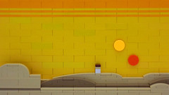 Under a Tatooine Sky (cmaddison) Tags: sunset toy starwars desert lego space luke relief scifi skywalker tatooine anewhope episode4 episodeiv microscale