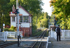 Alston Railway Station (Tony Worrall Foto) Tags: county uk travel england station train person town stream tour open place northwest unitedkingdom country north tracks rail railway visit location cumbria area northern update quaint attraction cumbrian alstonrailwaystation welovethenorth