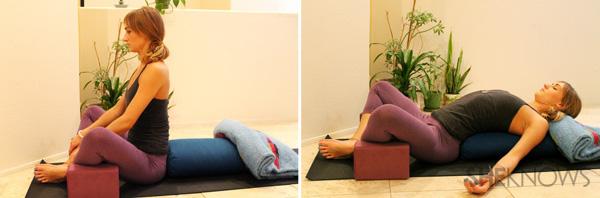 """Bài tập yoga """"đánh bay"""" cơn đau bụng kỳ nguyệt san"""