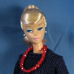 Barbie in Navy Sweater (Debras Closet) Tags: red navy barbie dollclothes