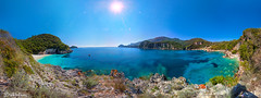 Magical Rovinia (Bill-Metallinos) Tags: travel blue light sea summer sky sun seascape green beach water beautiful island seaside sand turquoise best greece te corfu korfu beautifull ionian mediteranean kerkira paleokastritsa liapades rovinia metallinos palaiokastritsa