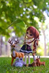 I think it will rain (Suki) Tags: cute animal leaf outdoor deer totoro pullip pullipcustom poisongirldolls