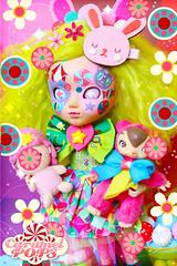 Wondrous Cloud Puff Reborned! ( Caramelaw ) Tags: carnival cute bunny rainbow whimsy doll dolls candy circus ooak kawaii approved pullip blythe colourful custom unicorn whimsical caramelpops caramelaw