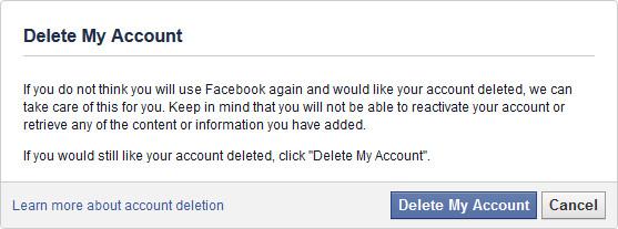 វិធីសាស្រ្តលុបគណនី Facebook អោយបាត់ឈឹង ពីពិភពលោក! (ផ្លូវកាត់)