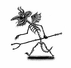 Demon 357 (Don Moyer) Tags: ink notebook drawing walk demon devil moyer brushpen donmoyer