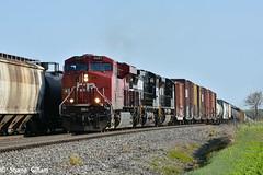 Cp 9367 meet's a Sb at Attica Jct. (Machme92) Tags: railroad clouds nikon ns norfolk rail row canadian rails cp ge railfan freight railroads norfolksouthern railroading emd railfanning gevo railfans nikond7200