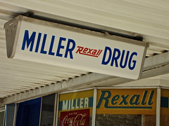 Miller's Rexall Drugs, Macon, MO (Robby Virus) Tags: sign store pharmacy missouri drugs storefront signage drug drugstore macon millers rexall