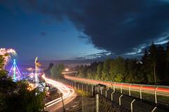 night ride (randaniel) Tags: camping nightshot zrich adac nachtaufnahme feuerwerk nordschleife nrburgring blauestunde schwalbenschwanz nrburgring24hours2016