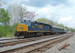 CSX 9969 W003-12 (2) (Trains & Trails) Tags: railroad train diesel pennsylvania geometry inspection engine special transportation locomotive rebuilt csx fayettecounty emd darkfuture gp40wh2 widecab southconnellsville greenejunction yn3b w00312