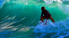 surfing on the green wave - Tel-Aviv beach (Lior. L) Tags: sea motion beach telaviv surf action surfer surfing greenwave