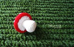 Crochet grass rug with mushroom 1 rs (Mingle Doll ) Tags: mushroom grass with crochet rug toadstool
