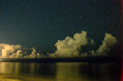 Mixed Feelings (Ryukyujin) Tags: ocean sea sky beach japan night clouds stars  okinawa     ryukyu nakijin  nago