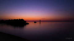 Alba calma #2 (JackX91) Tags: sea sun night sunrise rocks day mare alba roccia rocce calma notte giorno