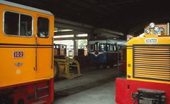 Taiwan - Xinying - Sugar Rail (railasia) Tags: heritage shed taiwan infra nineties tsc motorcar 762mm diema xinying industrialnarrowgauge dloco
