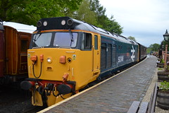 Class 50 - 50049 Defiance (Will Swain) Tags: arley station svr midlands severn valley railway diesel gala 19th may 2016 class 50 50049 defiance train trains rail railways transport travel uk britain vehicle vehicles england english