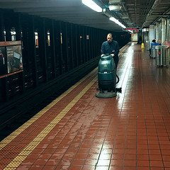 Broad Street Subway (Susquehanna and Dauphin) (buddhadog) Tags: subwaystation cleaning subwayworker 500x500 challengeyouwinner cyunanimous 2sweepers 100vu pregamewin 300 4wins manatwork candid workingwithamachine cy2 pregamesweep