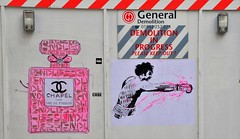 A Couple of Posters From Endless Artist. Beak Street, Soho. London. UK (standhisround) Tags: uk streetart london art wall artwork artist image soho streetartist posters endless beakstreet davidwhite endlessart urbanstreetart