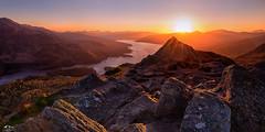 Trossachs Sundown (J McSporran) Tags: sunset mountain landscape scotland outdoor mountainside trossachs mountainpeak benaan ef1635mm canon6d