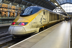 Eurostar at St Pancras (Johnspics59) Tags: england london train eurostar unitedkingdom railway railwaystation gb stpancras