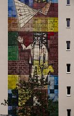 Berlin Apartment Block (mdss68) Tags: street berlin art graffiti mural warm kodak 64 xf1855mm fujixpro2 eckrachrome