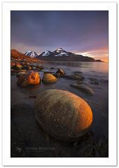 Midnight-sun light (Horia Bogdan) Tags: sunset mountain beach norway fjord midnightsun horiabogdan