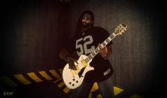 Rock Out (erikmofanui) Tags: portrait colors guitar rocker gibson guitarist lespaul jammin rockandroll 52 malemodel sexyman secondlifeavatar secondlifeportrait