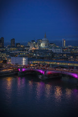 St Pauls (Lovebirds Creative) Tags: bridge london tower st architecture night pauls oxo