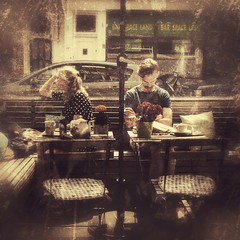 Speechless (wiedenmann.markus) Tags: people woman man bar bench table cafe backside seating photgraphy speechless