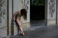 the dancer (Celine Schuster) Tags: girl dancer shattered skin body hair emotion conceptual canon 50mm blue ruin column temple germany feet ballet dance message feeling portrait