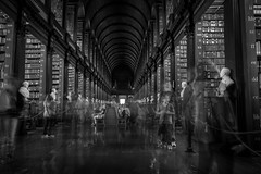 The ghosts (Stockografie) Tags: fuji fujifilm ireland travel xtrans xf1655 trinitycollege dublin ghost blackandwhite