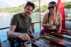 Backgammon Time (_Codename_) Tags: cruise jeff turkey boat tea bikini jacquie gulet backgammon christmasisland turkishriviera turquoisecoast vgo gemilerisland stnicholasisland bluecruises