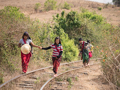 Kids in rural Myanmar (edin86) Tags: travel lake train trek asia burma railway myanmar inle kalaw lumixg7