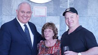 Mayor Frank Scarpitti, Diana, Chris