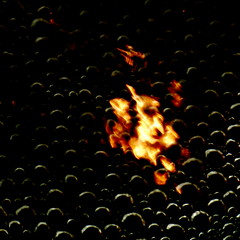 flash in the pan (vertblu) Tags: orange distortion abstract black hot reflection yellow contrast reflections pattern distorted patterns flash bubbles minimal abstraction minimalism hmm abstrakt boilingwater airbubbles flashpoint reflectedlight 500x500 hotcold boilingpoint minimalismus macromondays abstractreflections aglitchinthesystemanabstractviewofdailylife vertblu