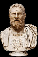 Ancient Rome. Bust of Publius Pertinax,  a political, military, and Roman Emperor (193 AD) (mike catalonian) Tags: portrait male bust marble emperor ancientrome pertinax 2ndcenturyad 193ad