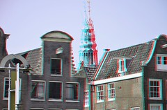Amsterdam 3D (wim hoppenbrouwers) Tags: amsterdam 3d anaglyph stereo nieuwmarkt redcyan