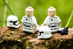 Stormtroopers taking a break (jezbags) Tags: white macro green canon star starwars lego stormtroopers 100mm troopers stormtrooper wars macrophotography canon60d macrolego macrodreams
