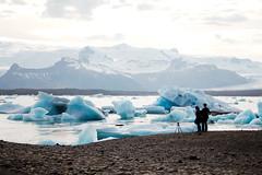 Glacier lagoon photo session (Gulius Caesar) Tags: blue ice water canon eos rebel bay iceland tripod lagoon glacier jkulsrln t2i